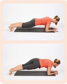 rotation des hanches en position de planche