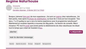 Regime Naturhouse avis negatif ou positif
