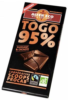 Le chocolat noir de Togo a une forte teneur en cacao, d'où ses bienfaits santé